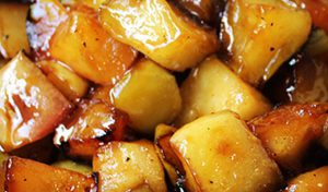 honey roasted apples